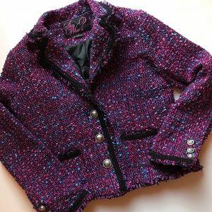 Say What? women's woven blazer XL  purple